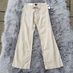 NWT Old Navy Linen Hip Slung Fit Wide Leg Pants 1